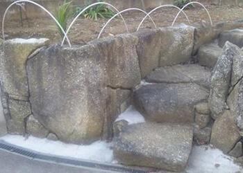 石組み階段